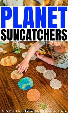 Planet Suncatchers Craft for Kids | Modern Homestead Mama | Space Craft Actvity for Preschoolers #activitiesforpreschoolers #preschool #homeschool #spacetheme