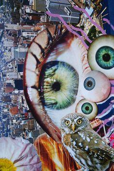 Eye Eye Eye, John Turck Collage | via John Turck || https://www.pinterest.com/pin/362187995008821608/
