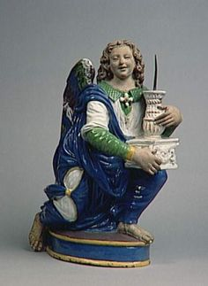 Paire d'Anges porte-candélabres, attribué à Giovanni della Robbia Photo RMN - Hervé Lewandowski