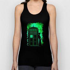 Tardis In Light Green Shadow - $22