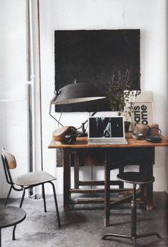 so good Industrial Interior Design, Industrial House, Industrial Interiors, Industrial Workspace, Industrial Style, Warm Industrial, Vintage Industrial, Vintage Lamps, Industrial Lamps