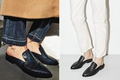Shoes Of The Season: Flat Mules (The fashion cuisine) Mules Shoes Flat, Oxford Shoes, Summer 2016 Trends, Online Fashion Magazines, Chanel Ballet Flats, Affordable Fashion, Loafers Men, Fashion Forward, Personal Style