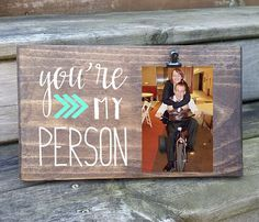 You're My Person Photo board, wood picture frame, photo holder with clip, friend frame, sister gift Heart name Picture Boards, Wood Picture Frames, Picture On Wood, Picture Ideas, Sister Gifts, Gifts For Friends, Cute Gifts, Diy Gifts, Write On Pictures