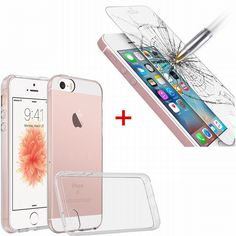 Find More Phone Bags & Cases Information about For iPhone SE 5S 5C 5 Glass Screen Protector + Case Clear Premium Scratch Resist Back Protection Cover Coque verre trempe fundas,High Quality case for nexus 7,China premium hair Suppliers, Cheap premium iphone case from Geek on Aliexpress.com