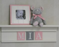 Purple Pink Kids Wall Shelf Nursery Shelves 24 by NelsonsGifts