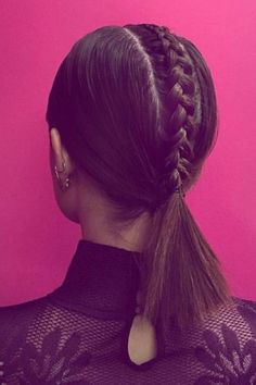 Lucy Hale's polished plait is a perfect cool-girl braid for a night out.
