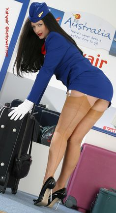 Korean flight attendant upskirt