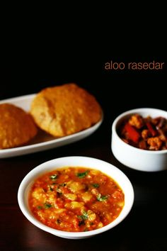 aloo rasedar recipe with step by step photos - spiced potato curry from uttar pradesh cuisine.    sharing one easy potato curry recipe which is made with tomatoes, ginger, spices and of course potatoes. the recipe is
