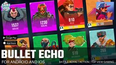 Bullet Echo Gameplay | For Android and iOS | Battle Royal | Gamesoda - YouTube Free Mobile Games, Battle Royal, Bullet, Ios, Android, Youtube, Youtubers, Youtube Movies