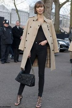 burberry trench (Karlie Kloss)