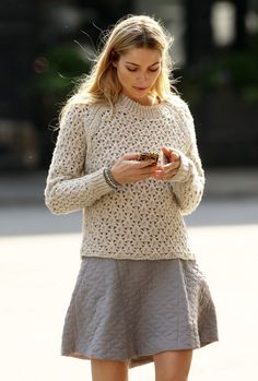 #Jessica Hart candid. Love that sweater.
