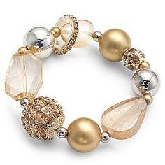 Chunky gold bead bracelet