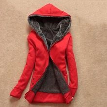 2015 Lady Korean Winter Women Parkas With Hat Girls Warm Thicken Cotton Collar Jacket Cardigan Hoodies Outerwear,6 Colors(China (Mainland))