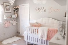 """Ever since I was a little girl, one of my favorite cartoons was The Swan Princess. When we found out the gender of our future baby, I instantly did some research on a """"Swan Lake"""" sort of theme. Has anyone done this before? How will I implement this? This nursery is more based on Swan Lake meets classy chic theme. A swan is such a beautiful animal and what is more graceful than a swan for our Ella Grace. My mother and I DIY'd a lot of the details ourselves because nothing quite ..."""