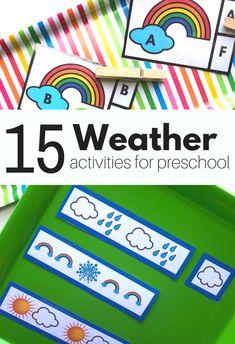 Weather Activities for Preschool - Free Printable - NTFCC