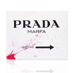 Quadro Prada Marfa schizzo fucsia Disponibile in varie dimensioni Declea Art Gallery Shop online: declea.com