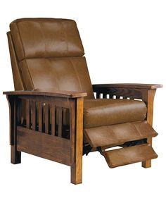 Nicolas II Mission Style Leather Recliner Chair, x x - Chairs - furniture - Macy's Mission Chair, Mission Style Furniture, Eames Rocking Chair, Rocking Chair Nursery, Leather Recliner Chair, Leather Sofa, Recliner Chairs, Bag Chairs, Leather Chairs