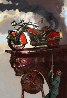 Steampunk Motorcycle - Kevin Mowrer