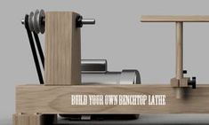 Learn how to make your own Benchtop Lathe. #DIY #woodworking