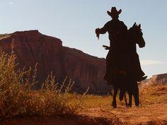 cowboy, desert, revolvers, held, horse, ride
