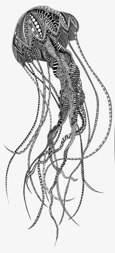 Jellyfish, Hand-painted Jellyfish, Creative Jellyfish, Jellyfish Pattern PNG Image
