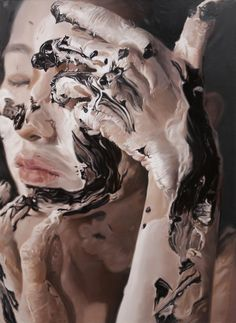 Hyperrealistic Paintings of a Woman Covered in Paint - My Modern Metropolis