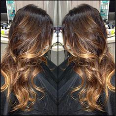 beauty_by_briza Ombré balayage on dark hair