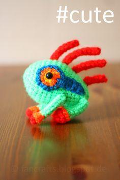 World of Warcraft Murloc, free crochet pattern. scroll down for it