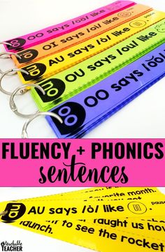 Fluency activities that will engage your students! Turn fluency into a fun reading game with these phonics based fluency sentences. Two ways to print and use for reading practice kindergarten and grade reading. Sentences include CVC words, digraphs, b Reading Practice, First Grade Reading, Reading Skills, Reading Strategies, Reading Fluency Games, Reading Workshop, Reading Activities, Fluency Practice, Reading Help