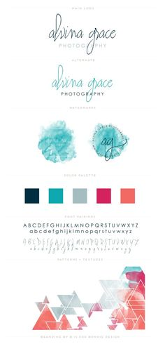 Alvina Grace Photography Brand Board