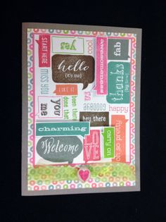 Making Time for Memories: April Stamp of the Month Blog Hop #Lollydoodle - card outside