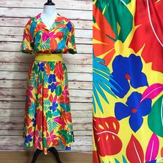 A personal favorite from my Etsy shop https://www.etsy.com/listing/547086459/vintage-80s-silk-tropical-flower-2-piece