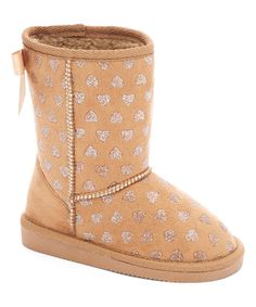 Look at this Ameta Tan & Silver Hearts Bambi Boot on #zulily today!