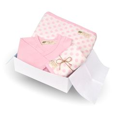Baby Welcome Gift in Pink Dot - perfect thing to bring baby girl home from the hospital in!