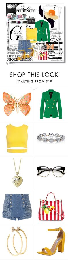"""""""THE FLOP HOUSE CHIC{K}"""" by g-vah-styles ❤ liked on Polyvore featuring Balmain, Sans Souci, Harry Kotlar, Pierre Balmain, Dolce&Gabbana, Jill Platner and Steve Madden"""