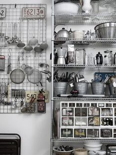warehouse kitchen, industrial kitchen, concrete kitchen, concrete tabletop… In Warehouse Home Issue Two, we discovered the inspiring and enviable industrial style kitchen decor in leading chef Alistair Hendy's home. Industrial Kitchen Design, Industrial Interiors, Kitchen Interior, Kitchen Decor, Industrial Furniture, Kitchen Tools, Bakery Kitchen, Loft Kitchen, Industrial Cafe