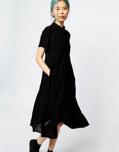 Image 1 ofMonki Short Sleeve Shirt Dress