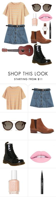 """You were my peach you were my plum"" by caroline-is-pop-punk ❤ liked on Polyvore featuring Toast, Chicnova Fashion, STELLA McCARTNEY, Seychelles, Dr. Martens, Essie, Kat Von D, Daniel Wellington, poppunk and thefrontbottoms"