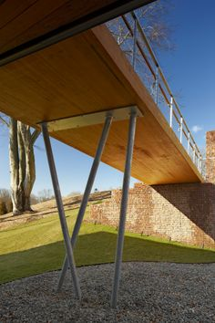 Image 20 of 24 from gallery of Jesuit Community Center at Fairfield University / Gray Organschi Architecture. Photograph by Robert Benson Photography Timber Architecture, Architecture Portfolio, Architecture Photo, Residential Architecture, Landscape Architecture, Landscape Design, Garden Design, Bridge Design, Facade Design