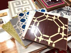 New painted WOOD tiles!  Great idea!!  COCOCOZY: COCOCOZY AT HIGH POINT MARKET 2014 - ALL ABOUT FLOORS