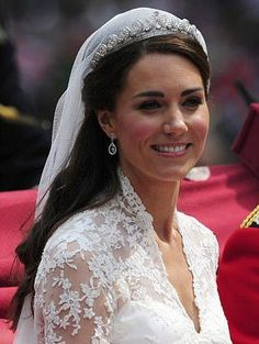 Halo tiara worn by the Duchess of Cambridge on her wedding day something borrowed - from HRH the Queen.