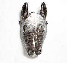 Paper mache horse mask. $43.00, via Etsy.