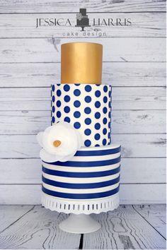 Indian Weddings Inspirations. Gold and Blue Wedding Cake. Repinned by #indianweddingsmag indianweddingsmag.com #weddingcake