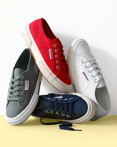 The Row linen, and the classics - red, white, blue and black - the more the merrier - Superga Cotu classic tennis sneakers Kid Shoes, Me Too Shoes, Shoe Boots, Flat Shoes, Tennis Sneakers, Shoes Sneakers, Stinky Shoes, Shoes Photo, Superga Cotu