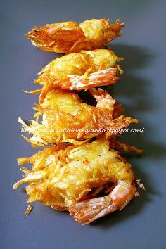 Gamberi in Crosta di Patate - Langostine in Potato CrustI