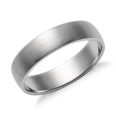 Matte Low Dome Wedding Ring in Platinum (5mm) - band for rosh