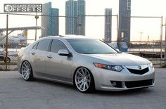 443 1 2009 tsx acura 4dr sedan w technology package 24l 4cyl 5a dropped 3 vossen cv4 polished hellaflush.jpg