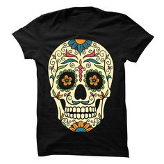 Sugar skull Tee - #funny sweatshirt #black sweatshirt. SATISFACTION GUARANTEED => https://www.sunfrog.com/LifeStyle/Sugar-skull-Tee-66736649-Guys.html?68278
