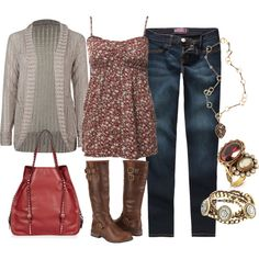 red by sandreamarie on Polyvore