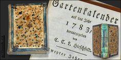 GARTENKALENDER auf das Jahr 1783.  Pergamenová, malovaná vazba.  Antikvariát PRAŽSKÝ ALMANACH www.artbook.cz -  aktuální nabídka